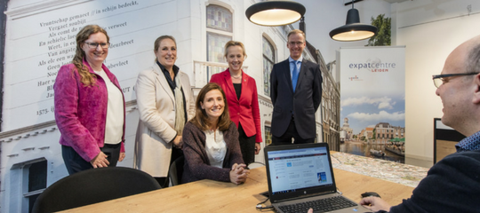First registration by Expat Centre Leiden