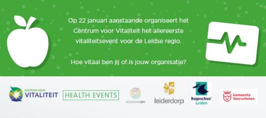 Vitaliteitsevent (22/1): vitaal werken, wonen en studeren in regio 071!