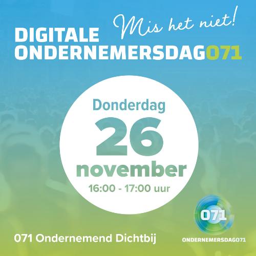 Volgende digitale Ondernemersdag071 op 26 november
